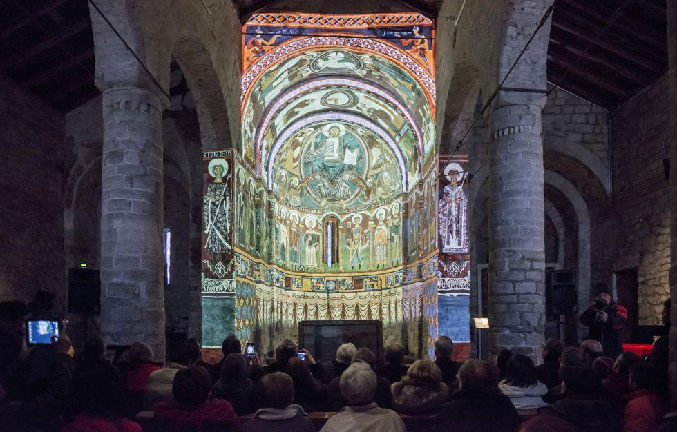 Abside virtual na igreja de Sant Climent de Taüll (Alta Ribagorça)