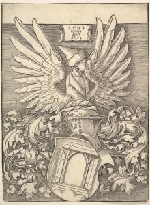 Coat of Arms of Albrecht Dürer Albrecht Dürer (German, Nuremberg 1471–1528 Nuremberg) Date: 1523 Medium: Woodcut