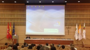 Sessão de abertura pelo Prof. Karim Gherab-Martín. Foto: Dália Guerreiro, 2014.