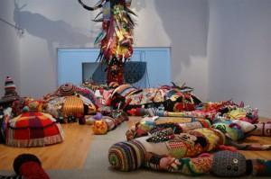 """Contaminação  Joana Vasconcelos, 2008-2010 Exposição """"Joana Vasconcelos. Sem rede"""", Museu Colecção Berardo,  Foto: MIR, 2010."""