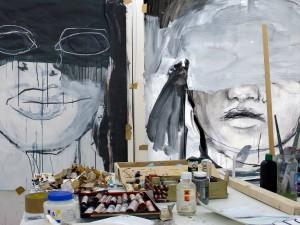 Atelier do pintor Foto: Mário Rita, 2015