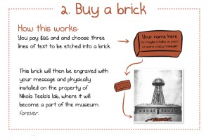 """Buy a brick"" Nikola Tesla, 2012"