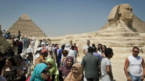 Turistas em Giza Foto: M. V. Kaganapan, 2013.