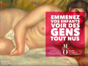 Campanha publicitária do Musée d'Orsay, 2016.