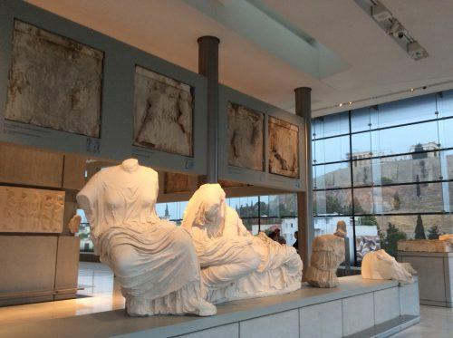 Réplicas do frontão oriental Atenas, Museu da Acrópole Foto: MIR, 2016