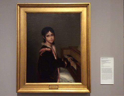 Retrato de Mariana Benedita Vitória de Sequeira, filha do pintor, tocando espineta Domingos António de Sequeira, datado de 1822-1823 MNAA Inv. 1086 Pint Foto: MIR, 2016