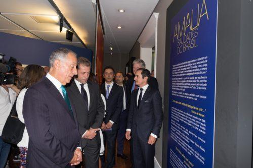 Inauguração da exposição pelo Presidente da República Portuguesa, Marcelo Rebelo de Sousa Foto: Presidência da República, 2016