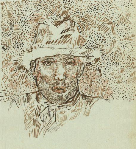 Auto-retrato (?) com chapéu de palha Vincent van Gogh (atrib.), julho ou agosto de 1888 Foto: Édition du Seuil