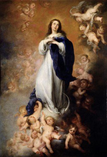 Imaculada Conceição, dita de los Venerables o de Soult Bartolomé Esteban Murillo, 1658 Madrid, Museo del Prado