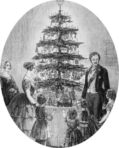 Christmas tree at Windsor Castle In: Illustrated London news (Supplement). (1848, Dec.).