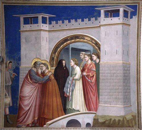 Encontro na Porta Dourada Giotto di Bondone, 1304-06 Pádua, Cappella Scrovegni