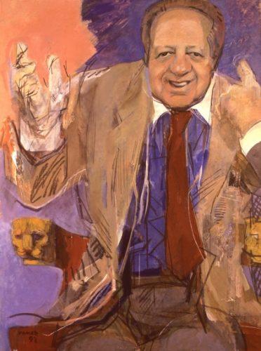 Mário Soares Júlio Pomar, 1992 Pintura a óleo sobre tela Dimensões/cm: 174 x 140 Lisboa, Museu da Presidência, Galeria de Retratos Oficiais