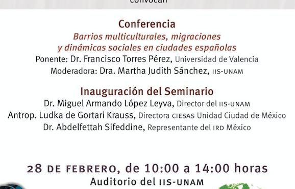 """Seminario permanente """"Inserción en un mundo de movilidades: nuevos retos analíticos en contextos cambiantes"""""""