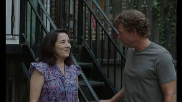 """Brooklyn Village"" d'Ira Sachs ; la locataire Léonor (Paulina Garcia) et son propriétaire Brian (Greg Kinnear)"