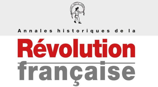 """PARUTION DU N° 387 DES AHRF : """"La Révolution française comme modèle et miroir (URSS, Chine, Japon)"""""""