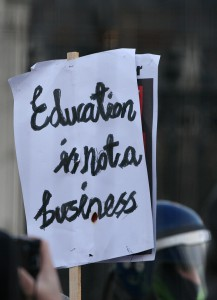 Education is not a business - Student protests - Parliament Square, London 2010