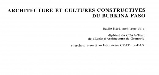 architecture et cultures constructives du burkina faso