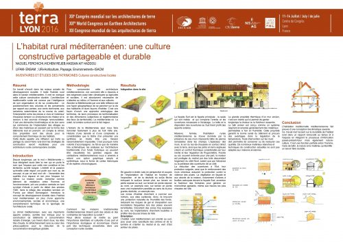 L'habitat rural méditerranéen: une culture constructive durable et partageable FERCHICHI NAOUEL ; REJEB HICHEM ; AIT HADDOU HASSAN