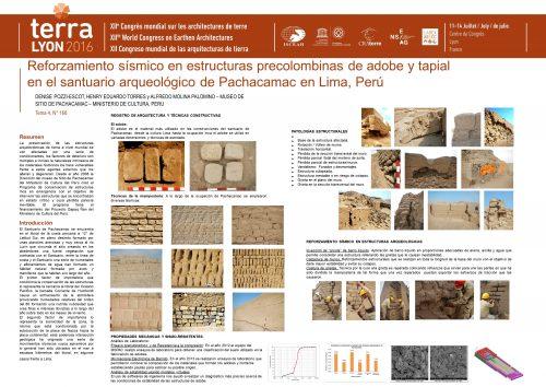 Reforzamiento sísmico en estructuras prehispanicas de adobe y tapial en el santuario arqueológico de Pachacamac. Lima – Perú. POZZI-ESCOT DENISE ; TORRES HENRY EDUARDO