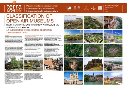 Clasification of open air museums. KNARIK STEPANYAN