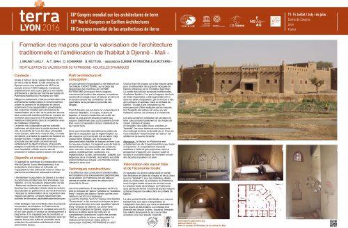 Formation des maçons pour la valorisation de l'architecture traditionnelle et l'amélioration de l'habitat à Djenne, Mali BRUNET-JAILLY J. ; BAH A. T. ; SCHERRER O. ; MOTTUEL B.