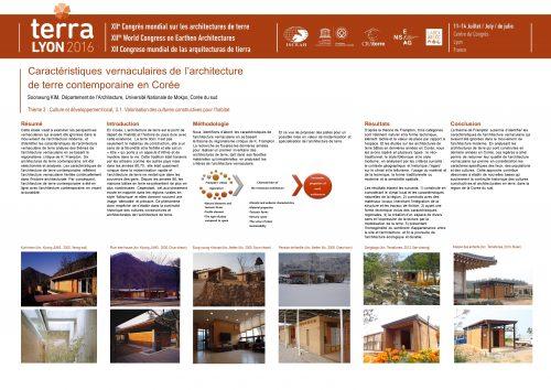 Caractéristiques vernaculaires de l'architecture de terre contemporaine en Corée. KIM Soonwaung