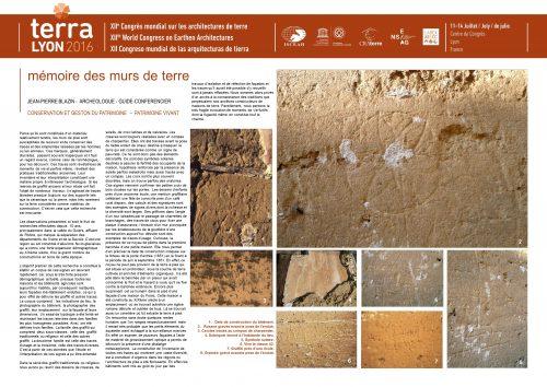 Mémoire des murs de terre. BLAZIN JEAN-PIERRE