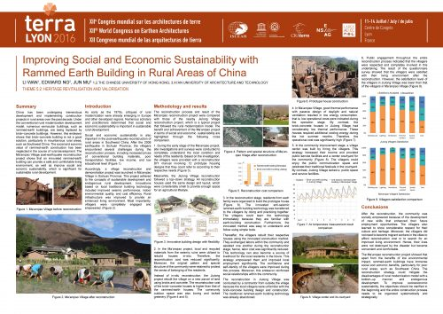 Improving social and economic sustainability with rammed earth building in rural areas of China. WAN Li, NG Edward, MU Jun