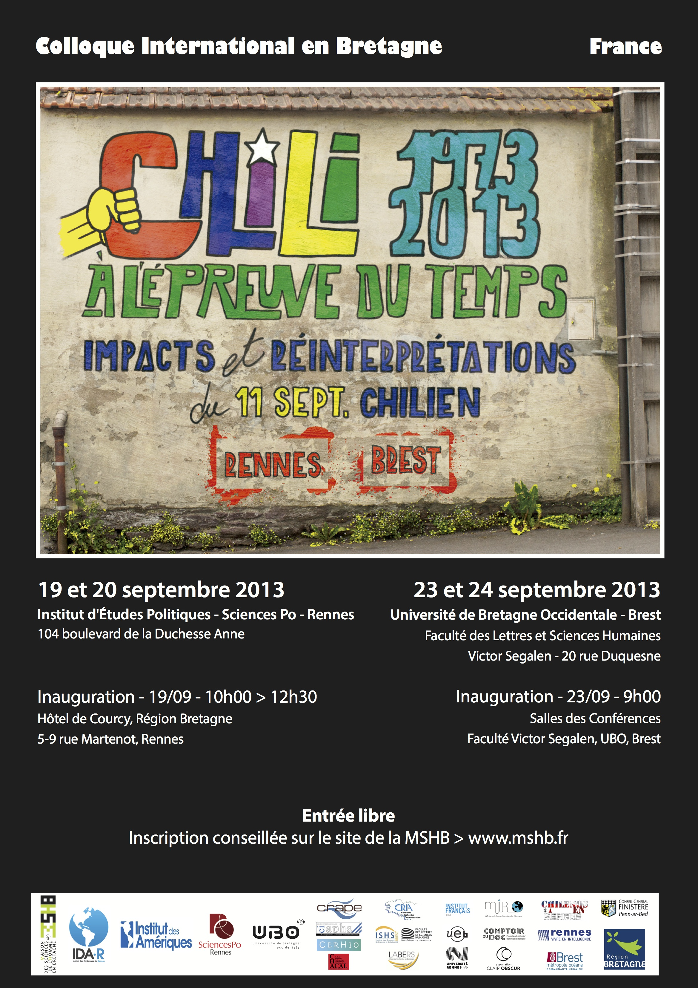 Affiche Colloque en Bretagne Chili73