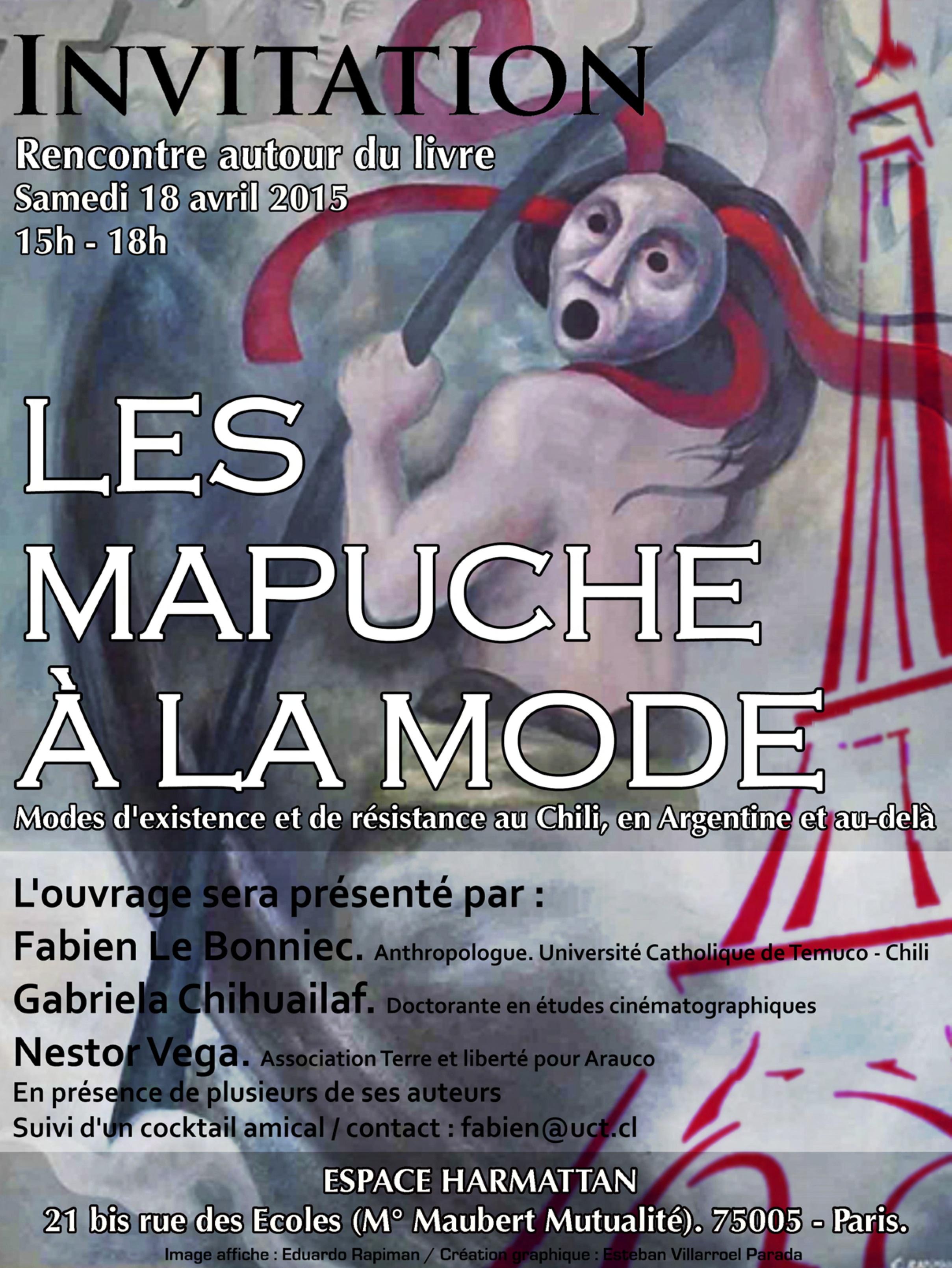Invitation Les Mapuche a la mode - 18 avril
