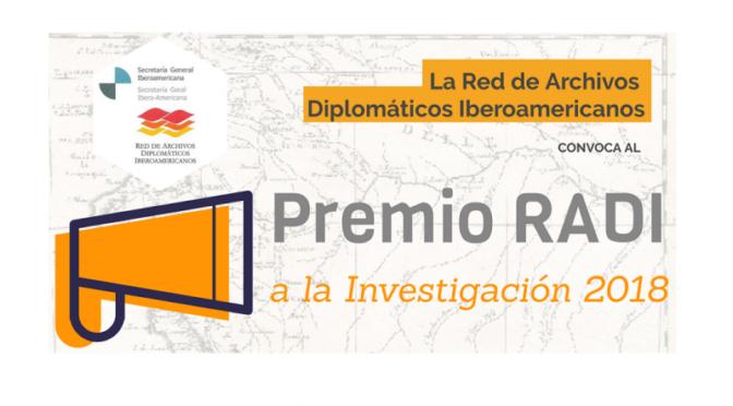 Premio Red Archivos Diplomáticos iberoamericanos a la Investigación 2018