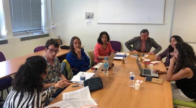 Septembre Rennes: Workshop- thématiques de recherche chili/ PÉrou