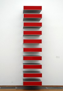 Untitled (Vertical Progression / 10 x red)