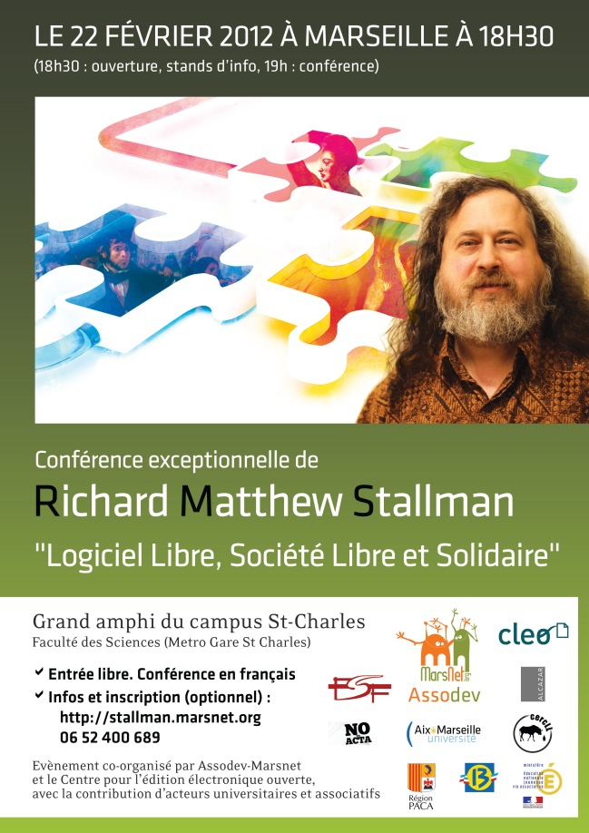 Richard Stallman demain à Marseille