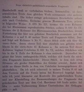 Description de la reconstitution des fragments par Duensing (op. cit. 1944, p. 221)