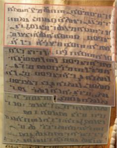 Ms. Sinaï, M59N (détail): les trois apophtegmes Marc4, Marc5 et Silvain Suppl.1. © L. Capron (reprod. interdite)