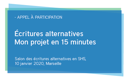 Le premier salon des écritures alternatives en sciences humaines et sociales
