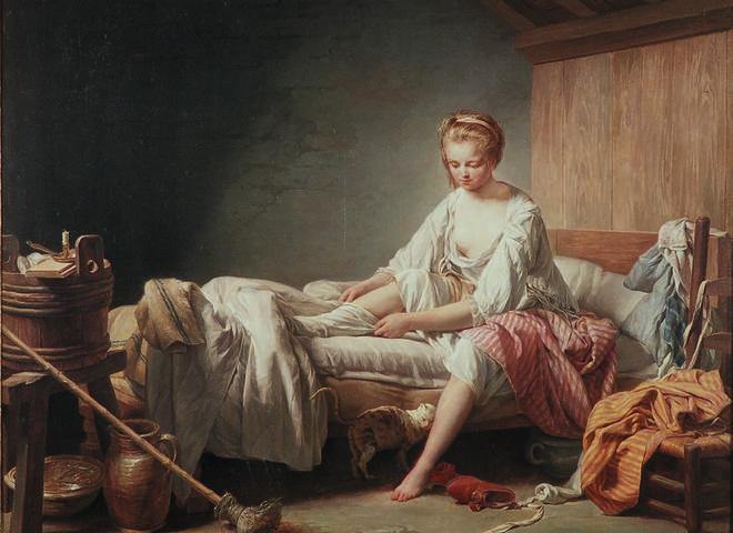 Nicolas-Bernard Lépicié, Le lever de Fanchon, France, 1773.