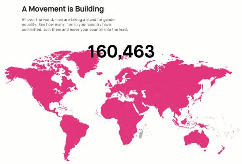 Map of HeForShe signers