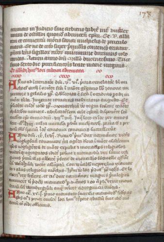 De abbatibus, Avranches, BM, 213, f. 178