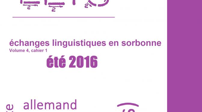 élis 4.1. (été 2016) : Varia