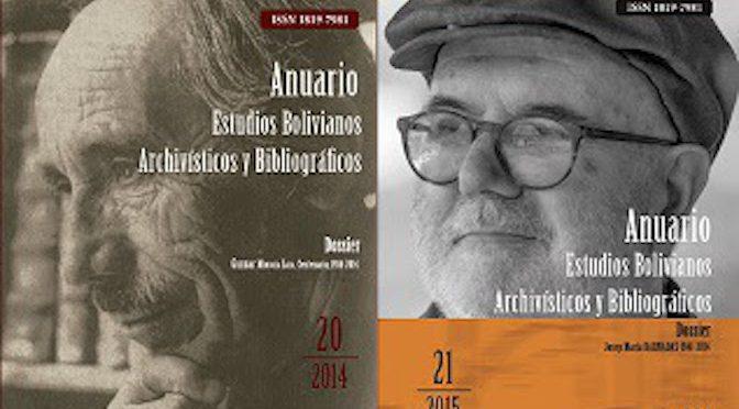 Anuario del ABNB: Convocatoria