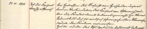 24.11.1916 Tod Franz Joseph (SC Rösberg)