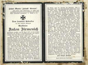 schulchronik Dürscheven 1914_1918_Seite_09 firmenich april 1917