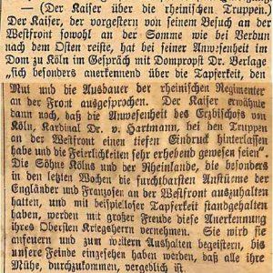 19081916Kaiser über rheinische Truppen