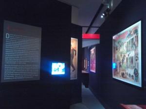 Exposition Cinéma Premiers Crimes, salle 4, vue de l'entrée. Copyright: S.E. LOUIS