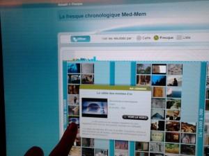 """Médinathèque. """"Collection Med-Mem"""", écran de contrôle. Copyright: S.E. LOUIS"""
