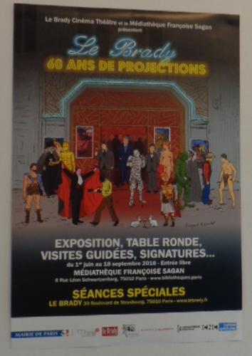 Exposition « Le Brady 60 ans de projections »