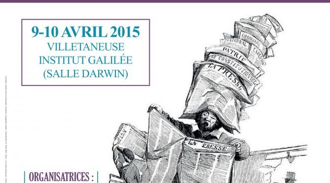Colloque : «Les voix du lecteur dans la presse française au XIXe siècle»