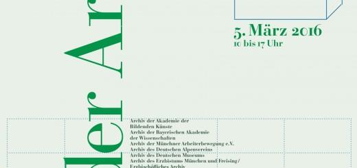 Die Münchener Archive bieten ein interessantes Programm.